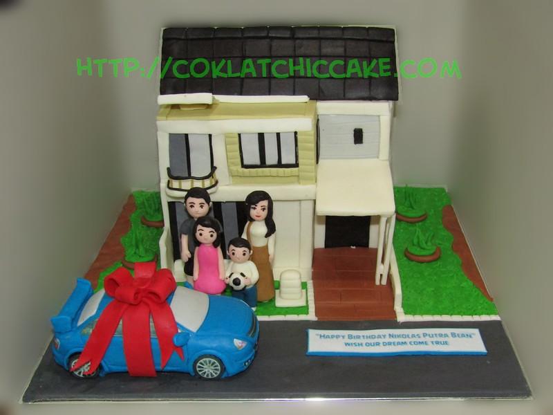 Cake Rumah dan mobil