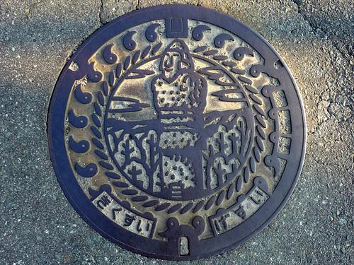 Kikusui Kumamoto, manhole cover (熊本県菊水町のマンホール)