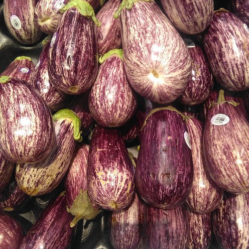 Graffiti eggplants #toronto #loblaws #seatonvillage #eggplants