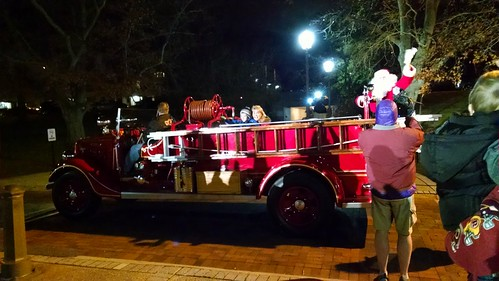 Santa arrived at the Greenbelt Festival of Lights.