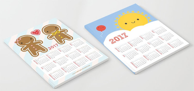 2017 calendar notebooks at Society6