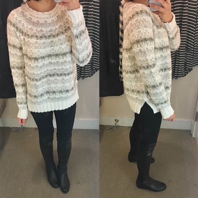 LOFT Relaxed Fairisle Sweater, size M regular