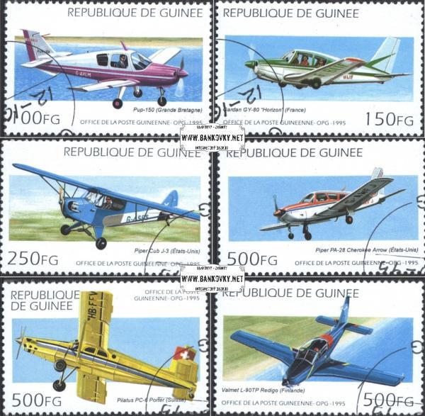 Známky Guinea 1979 Lietadlá, razítkovaná séria
