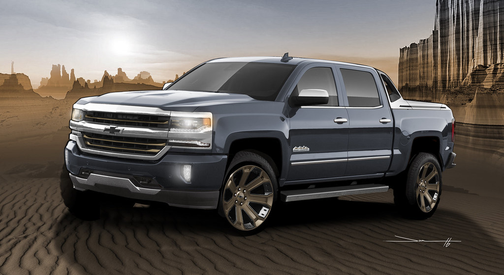 SEMA Show truck based on production 2017 Silverado High Desert package