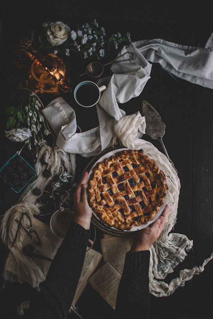 Blackberry, Blueberry & Honey Lattice Pie + A Blackberry Basil Honey Julep | TermiNatetor Kitchen