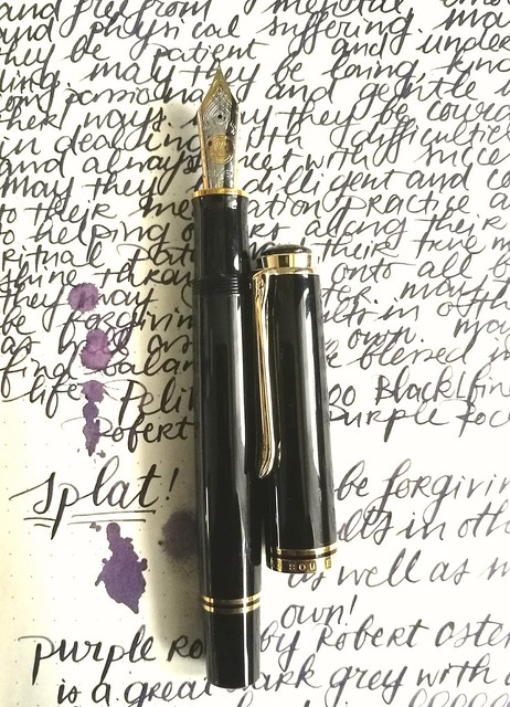 Pelikan M1000 with Purple Rock