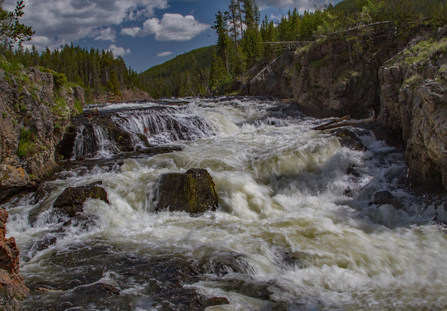 Firehole Cascades: Yellowstone National Park