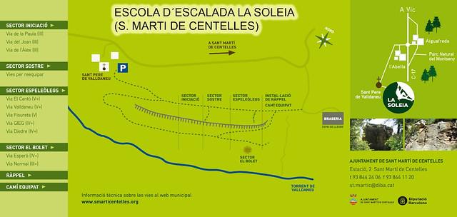 La Soleia (Sant Martí de Centelles) -08- Cartel Escola de Escalada