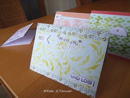 Basteln mit Kindern - Geburtstagspartyeinladungen