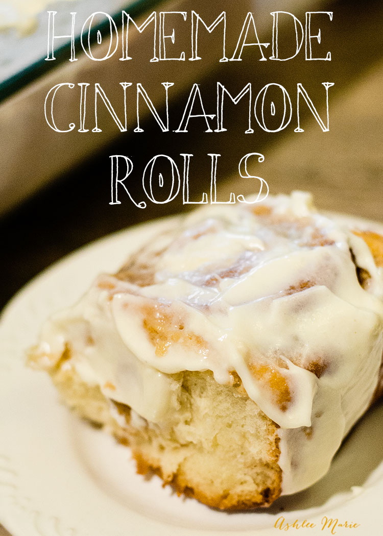 comfort food at it's best - homemade cinnamon rolls with a video tutorial