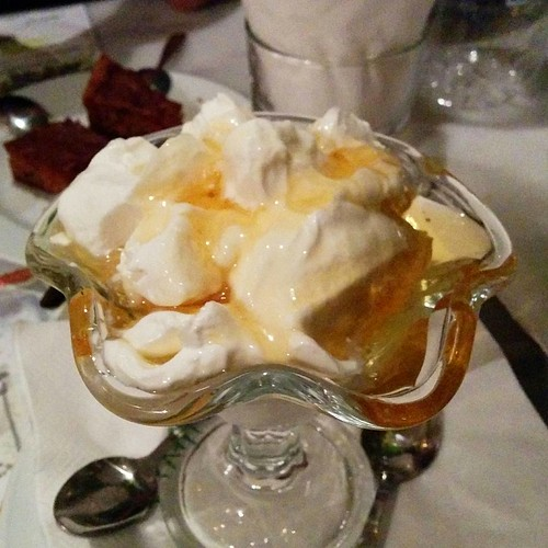 A mountain of Greek yogurt and honey!