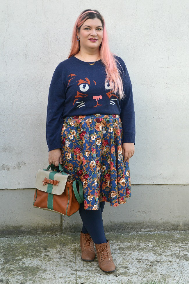 Outfit blu e floreale (8)