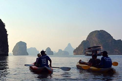 Sea Canoes in Phang Nga Bay