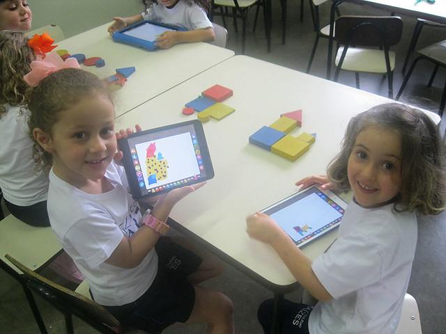 iPad e blocos lógicos - unidade da serra