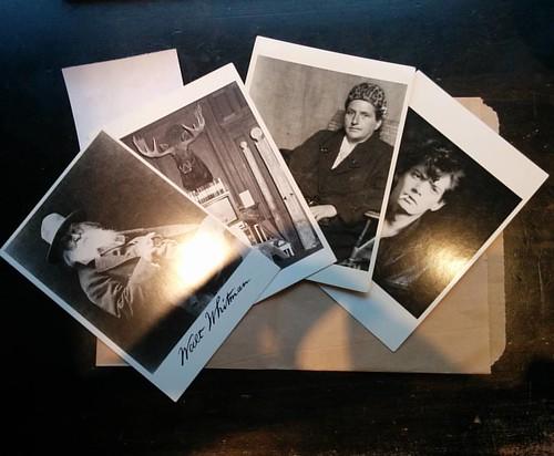 Last purchases #toronto #lgbt #gladdaybookshop #yongestreet #postcards #waltwhitman #andywarhol #gertrudestein #robertmapplethorpe