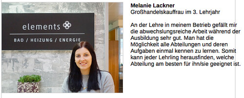 Lehrlings-Statement Melanie