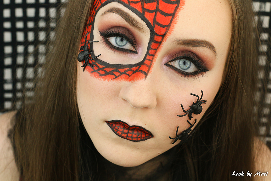 9 spiderman face paint
