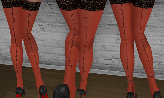 Seduction stockings examples, Red, AviCandy