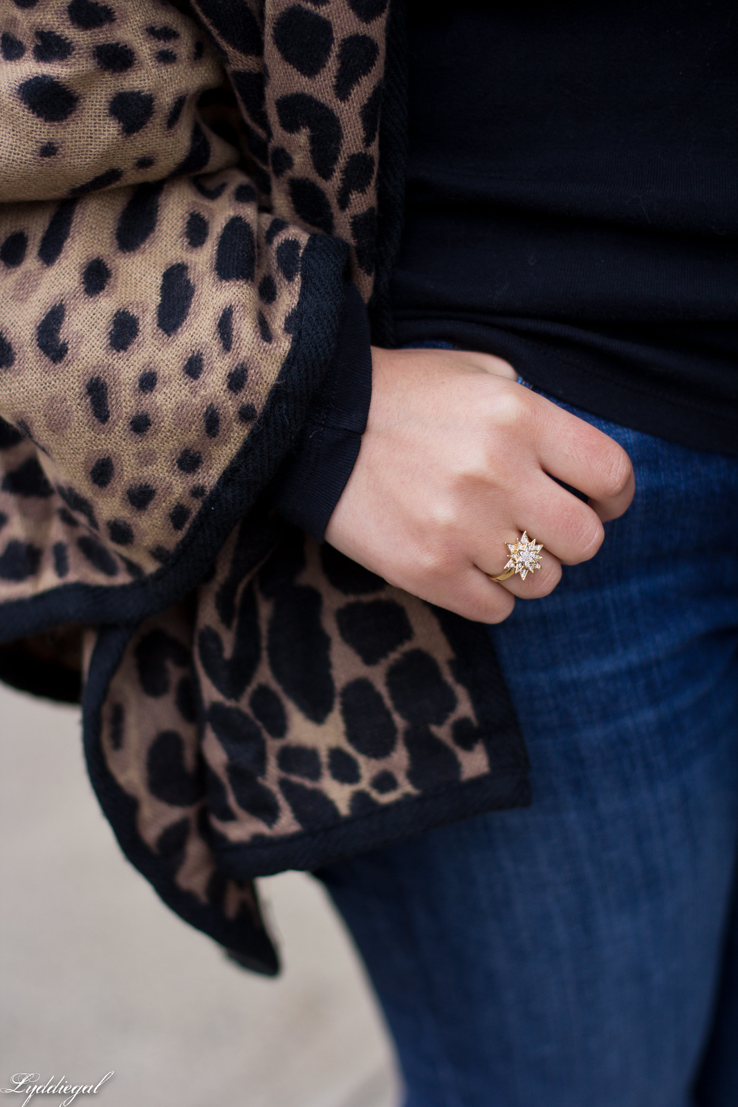 leopard poncho, jeans, black tee, brown booties-9.jpg