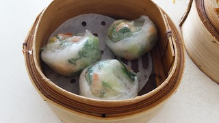 Chicken and Bok Choy Dumplings at Easy House