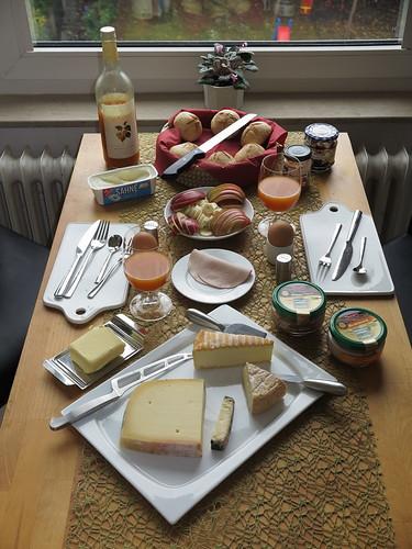 Spätes Frühstück am Samstagvormittag