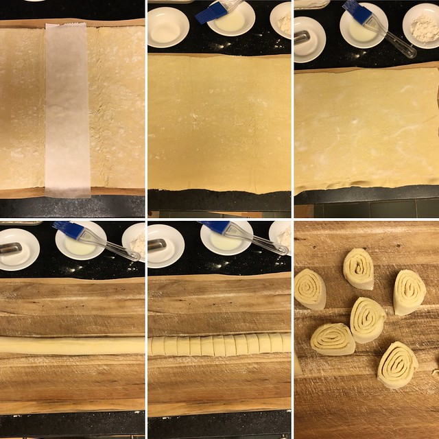 Step by step preparation of fine biscuits,