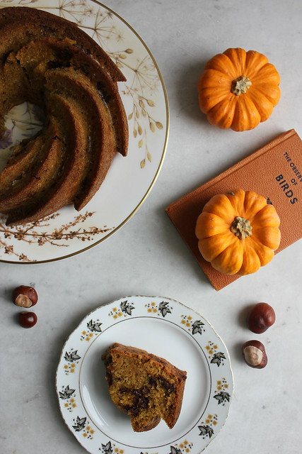 Chocolate chip, pumpkin and rye bundt