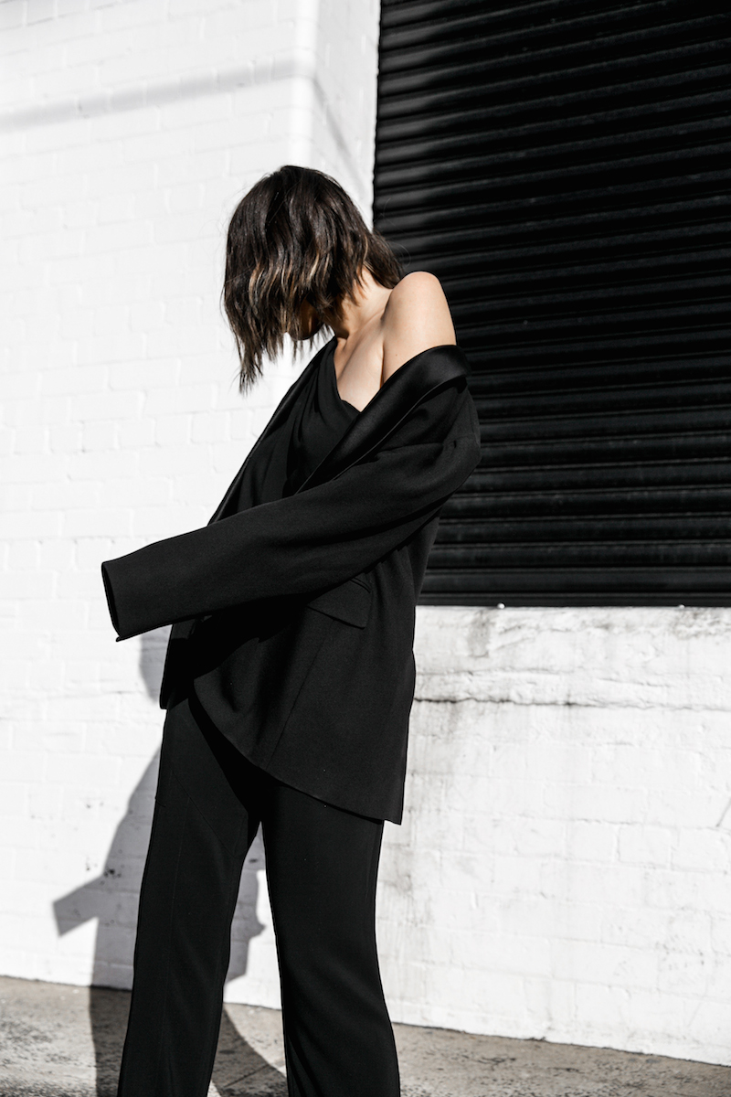 Givenchy one shoulder trend jumpsuit all black street style inspo fashion blogger Antigona minimal modern legacy yoox (8 of 13)