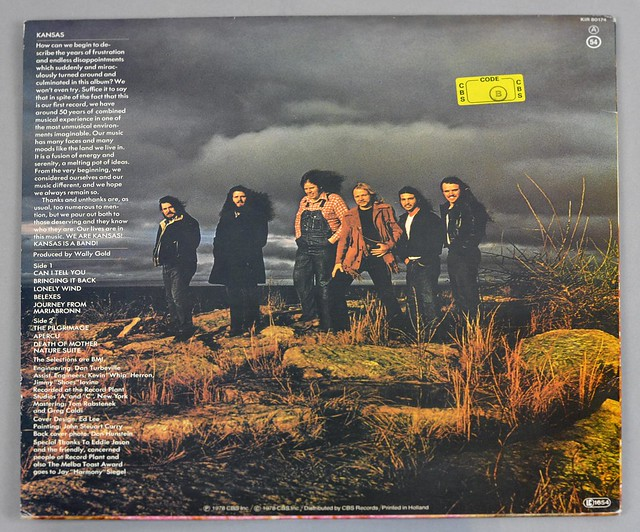 "Kansas Self-Titled 12"" Lp Vinyl"