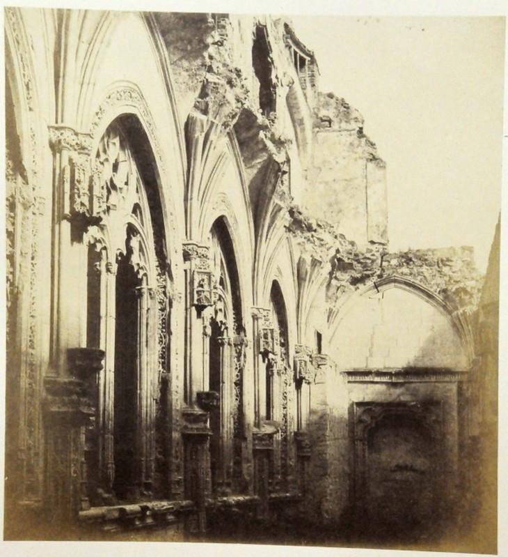Claustro de San Juan de los Reyes en Toledo en 1852. Fotografía de Felix Alexander Oppenheim © Museum für Islamische Kunst, Staatliche Museen zu Berlin