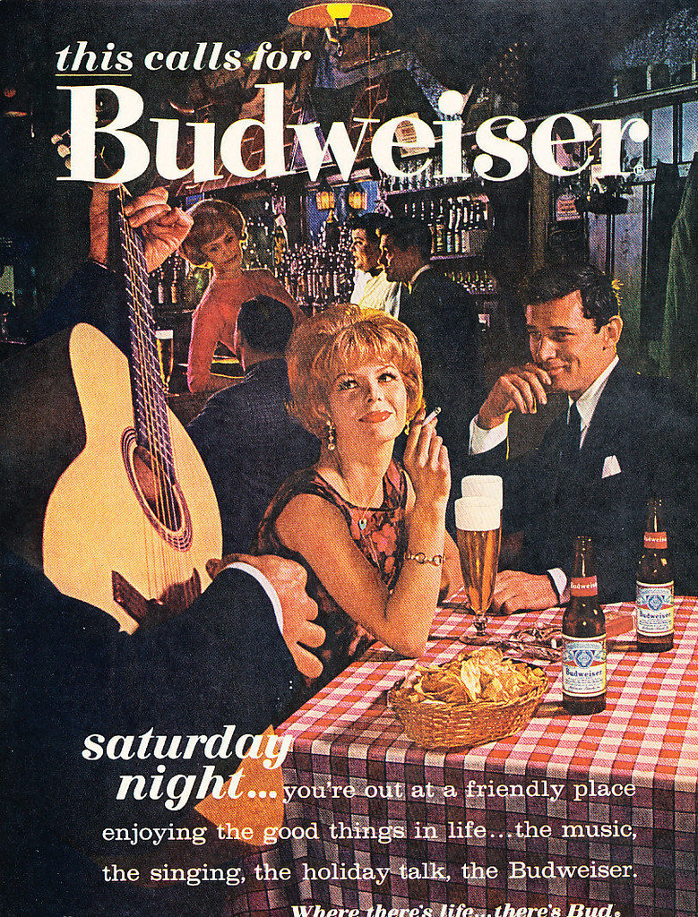 1961-this-calls-for-Budweiser-saturday-night