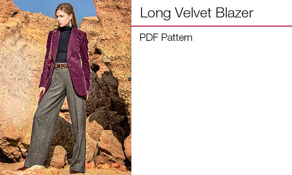 Long Velvet Blazer