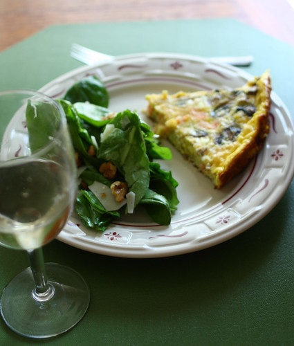 leek, mushroom, smoked salmon frittata | by jacqui | happy jack eats