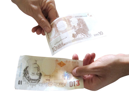 Forex Currency Exchange on White Background