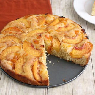 Rustic Peach Cake | by Tracey's Culinary Adventures