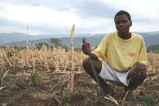 A young man in drought conditions in Ethiopia | by USAID Africa
