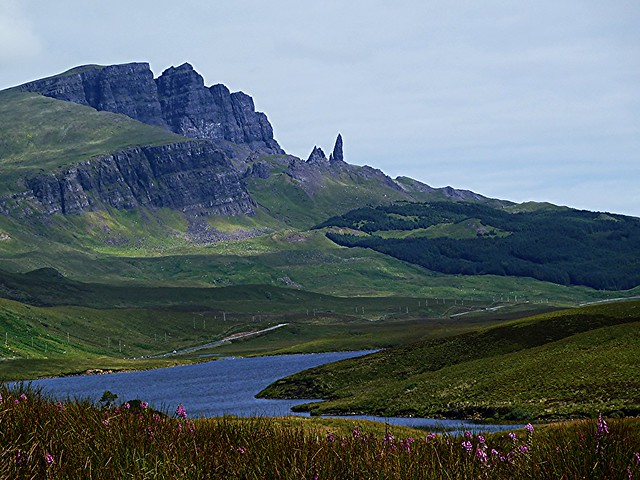 Landscape view of Old Man of Storr, Isle of Skye, Scotland.