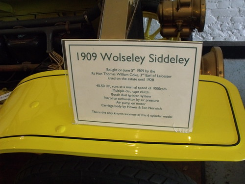 Holkham Hall - Bygones Museum - 1909 Wolseley Siddeley - sign | by ell brown
