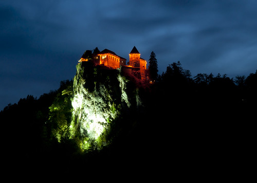 The Bled Castle at Night | by Banalama