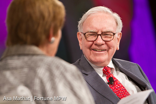Warren Buffett of Berkshire Hathaway Inc. and interviewer Carol Loomis of Fortune | by Fortune Live Media