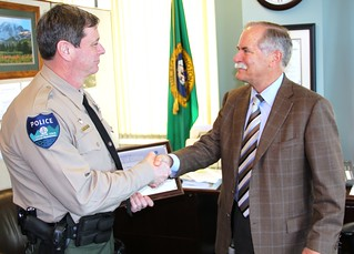 DNR Law Enforcement Officer Price with Commissioner Goldmark | by Washington State Department of Natural Resources