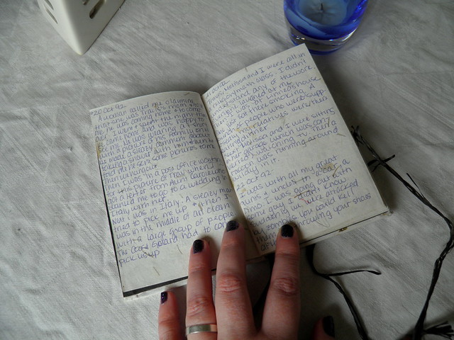 pages in really old dream journal