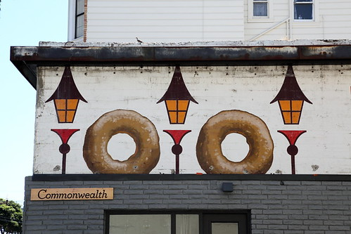 Old painted sign for Hunt's Quality Donuts, San Francisco | by Eating In Translation