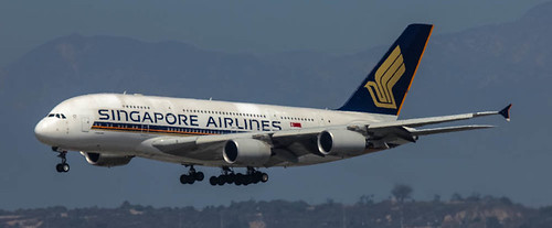 Singapore A380-841 9V-SKK landing at KLAX | by Gene Delaney
