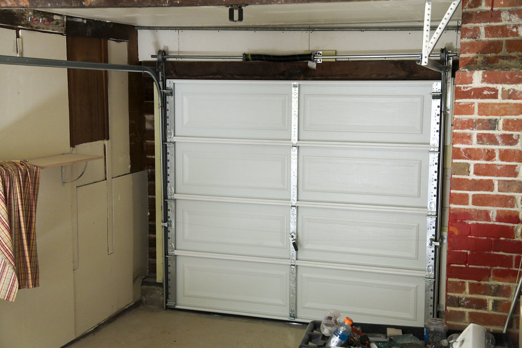New garage door at the duplex #thelovelygeek