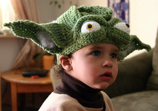Hand crocheted Yoda Hat | by N8tiveB