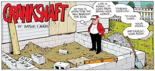 Crankshaft comic by Batiuk & Ayers, 11/27/2011, aging