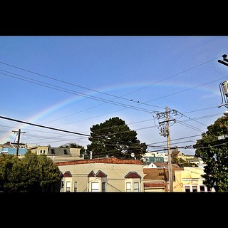 Nice rainbow over San Francisco right now | by jdeeringdavis