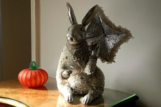 bunny with glass pumpkin | by omoo
