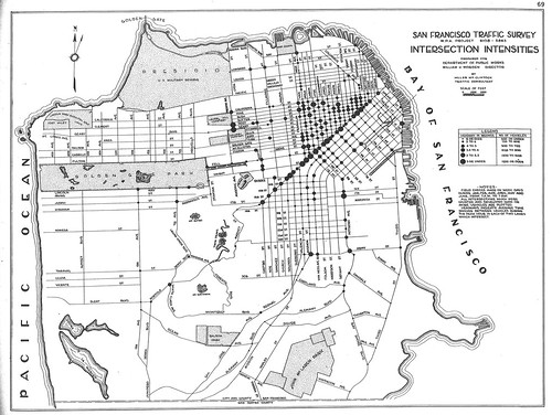 San Francisco Traffic Survey: Intersection Intensities (1937)